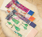 COLORFUL LANYARDS SILK SCARF 90X90 SQUARE SHAWL 4 COLORS 100% SILK TWILL 16MOMI
