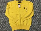 Polo Ralph Lauren V-Neck Boy Sweater Yellow 100% Cotton NWT