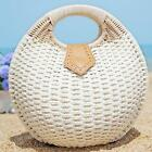 Women's Summer Lady's Stylish Shell Shape Straw Tote Handbags Rattan Beach Bags