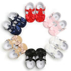 USA Toddler Infant Baby Girl Flower Shoes Crib Shoes Soft Sole Prewalker 0-18M