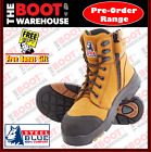Steel Blue 'TORQUAY' 617539  Wheat, Composite Toe, Safety Work Boot. ZIP SIDE!