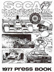 1977 SCCA Professional Racing Press Book - Cover Poster