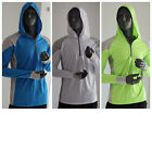 Внешний вид - Mens Long Sleeve Fishing Sun Shirt Quick Dry Breathable Hooded Top Sunproof