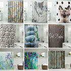 Xmas Pet Scenery Waterproof Bathroom Shower Curtain Panel Sheer Decor With Hooks
