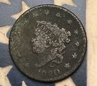 1820 1C Coronet Head Large Cent Vintage US Copper Coin #JB21 Sharp Appeal