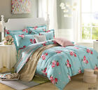 Catherine Lansfield Red Flowers Duvet Cover 100% Cotton Quilt Cover Bedding Set