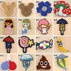 Embroidered Sew On Patches Cartoon Transfer Fabric Bag Clothes Applique Trim-B