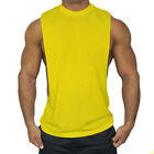 Men T Shirt Workout Vest Tank Top Body building GYM Muscle Fitness Athletic