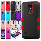 For LG Harmony M257 IMPACT TUFF HYBRID Protector Case Skin Cover +Screen Guard
