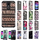 For LG Harmony M257 HARD Hybrid Rubber Silicone Case Phone Cover Accessory