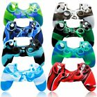 Camouflage Silicone Rubber Skin Grip Case Cover for PlayStation 4 PS4 Controller