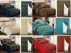 7 Piece Jacquard Bedspread Comforter Set,With Cushion Covers + P.Curtains Luxury