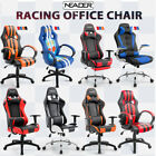 NEW Recliner Massage Office Chair Racing High Back Swivel Seat Footrest Headrest