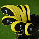 10pcs Black Neoprene Golf Club Head Cover Wedge Iron Sleeve Protector Case Sale