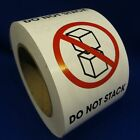 "Do Not Stack 3""x4"" - Packing Shipping Handling Warning Label Stickers"