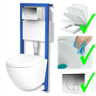 Kyпить All-In-One Lavita Vorwandelement + Wand WC ohne Spülrand + WC-Sitz Soft-Close на еВаy.соm