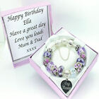 Engraved Jewellery For Women Purple Bracelet Any Message PERSONALISED Gifts