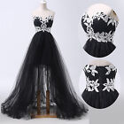 Formal Black&White Short Long Party Prom Bridesmaid Dress Evening Ball Gown 6-20