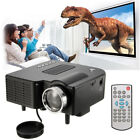 Portable LED Movie Projector Home Theater HD 1080P Multimedia AV/VGA/USB/SD/HDMI