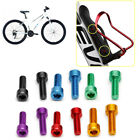 2Pcs Bike Water Bottle Cage Bolts M5*15MM Aluminium Alloy Hex Tapping Screws