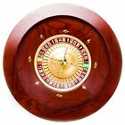 Brybelly Casino Grade Deluxe Wooden Roulette Wheel  Red-Brown Mahogany  18""