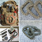2/5X TACTICAL CCARABINERS -BUCKLE D-RING CARABINA CARABINER CLIPS CLIMBING HOOKS