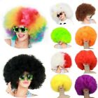 Full Big Wig Afro Clown Costume 70s Disco Circus Halloween Funny Party Dress Up