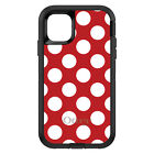OtterBox Defender for iPhone 7 8 PLUS X XS Max XR White & Red Polka Dots