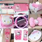 Pink Car-styling Car Seat Covers Interior Accessories Hello Kitty Car Steering