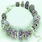 Womens Jewellery Purple Bracelet 16th 18th 21st 30th 40th 50th BIRTHDAY Gifts