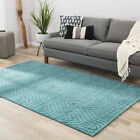 Willa Arlo Interiors Chevell Wool Solids Hand-Loomed Blue Area Rug