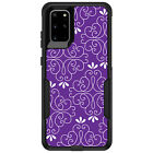 OtterBox Commuter for Galaxy S5 S6 S7 S8 S9 PLUS Purple White Floral