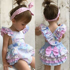 Floral Newborn Infant Baby Girl Bodysuit Romper Jumpsuit Outfits Sunsuit US cdy
