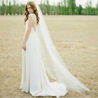 New White/ivory 1T 2M / 3M Long Wedding Bridal Cathedral Veil With Comb Veils