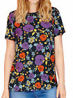 NEW SIMPLY BE LABEL BE SHELL TOP TUNIC DARK TEAL GREEN MULTI FLORAL 16 18 22