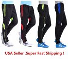 Men's Sports Running Cycling Pants Training Sweat Gym Athletic Pants Slim Fit