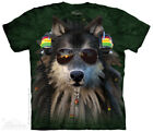 Rasta Wolf Manimal T-Shirt by The Mountain - Adult & Youth Sizes