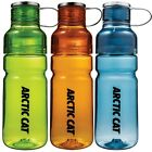 Arctic Cat Plastic Two-top Water Bottle - Lime Green, Orange, Glacier Blue