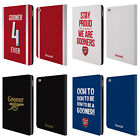 OFFICIAL ARSENAL FC GOONERS LEATHER BOOK WALLET CASE COVER FOR APPLE iPAD