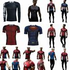 Men's Compression Muscle Marvel Superhero Top T Shirts Fitness Tight Sports GYM