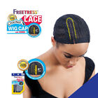 "FREETRESS 5"" LACE PART CROCHET WIG CAP WITH COMBS DIAMOND SHAPE WEAVING HAIR NET"