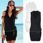 NEW Women Summer Casual Bandage Bodycon Evening Party Cocktail Beach Mini Dress