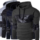 Men Fashion New Warm Casual Sport Running Hiking Long Sleeve Hooded Tops Sweater