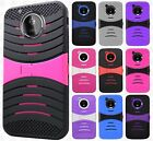 For Motorola Moto E4 Hard Gel Rubber KICKSTAND Protector Cover +Screen Guard