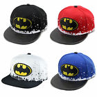 Batman Snapback Baseball Cap Kids Toddler Hip Hop Dance Summer Sport Sun Hat New
