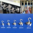 16/20/25/32/42mm Strong Magnet Hooks Hanger Powerful Neodymium Home Wall Holds