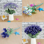 10 Heads High Simulation Silk Lavender Bouquet Flowers Wedding Home Ornament
