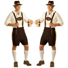 German Men Bavarian Beer Guy Lederhosen Oktoberfest Outfit Costume Fancy Dress