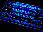qn-tm Name Personalized Custom World's Best Poker Room Liquor Bar Beer Neon Sign