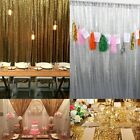 2 Panels Shimmer Sequin Curtain Photography Backdrop Wedding Decor 8ft/7ft/6ft